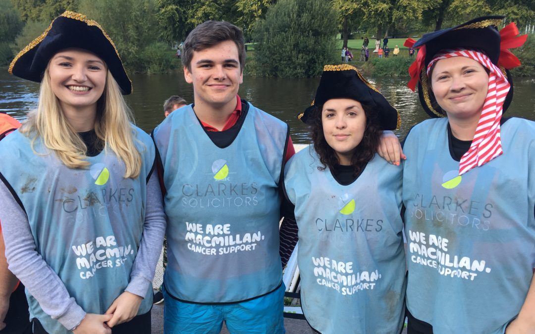 "Clarkes' team of pirates hit the ""Severn"" seas at MacMillan Cancer Supports Coracle Races"