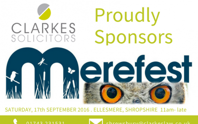 Clarkes Proudly Sponsors Merefest!